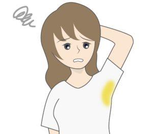 脇汗の黄ばみの原因と対策、汗ジミを完全に防ぐ方法【簡単で安価!】